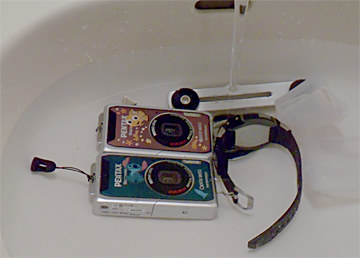 91カメラと時計の塩抜き.jpg